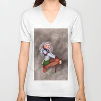 tesla V-neck T-shirts featuring Tesla by Thedustyphoenix