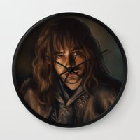 kili Wall Clocks featuring Kili by Svenja Gosen