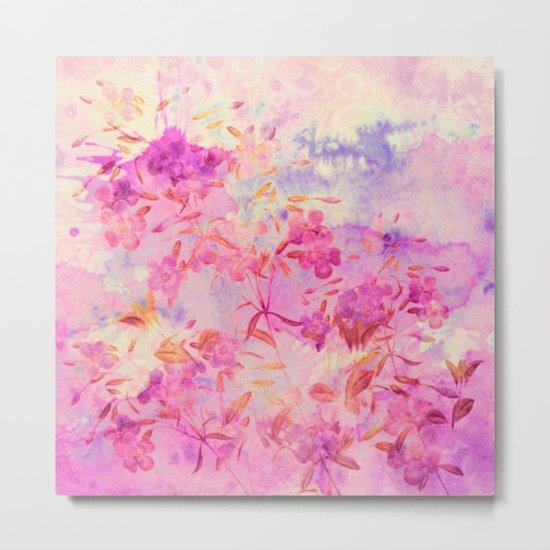 pink flowers and blue sky Metal Print
