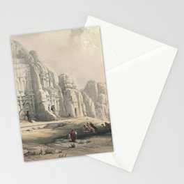 Vintage Print - The Holy Land, Vol 3 (1843) - Petra, Eastern End of the Valley Stationery Cards