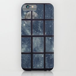 Space view Window-Moon shine iPhone Case