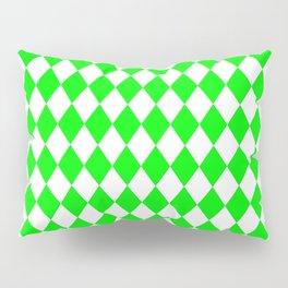 Rhombus (Green/White) Pillow Sham