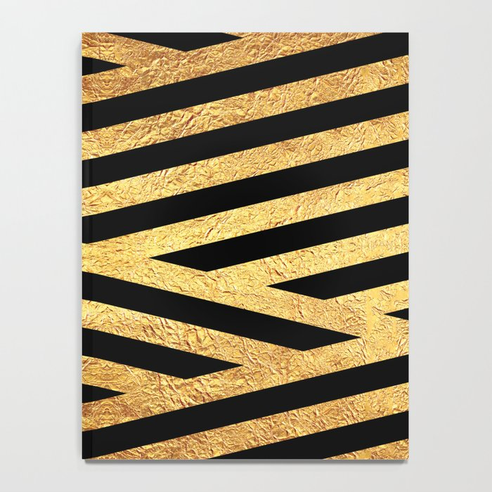Gold and Black Notebook
