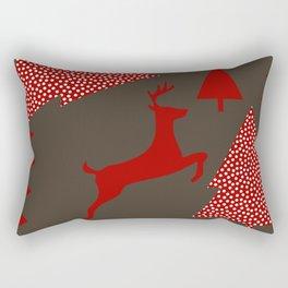 Reindeer brown Rectangular Pillow
