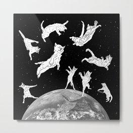 Cosmic Cat Space Metal Print