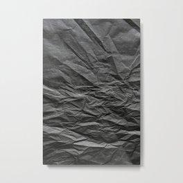 black paper LANDSCAPE Metal Print