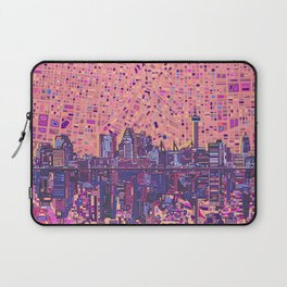 san antonio city skyline abstract 5 Laptop Sleeve