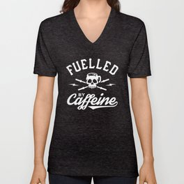 Fuelled By Caffeine Unisex V-Neck