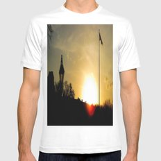 Plaza de Armas, New Orleans White MEDIUM Mens Fitted Tee