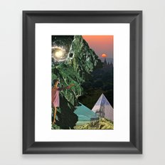 round island Framed Art Print