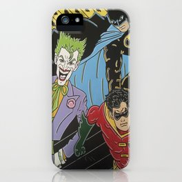 Bat and joker iPhone Case