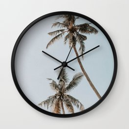 two palm trees Wall Clock