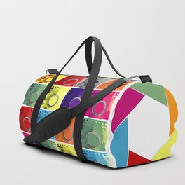 retro camera pop art style Duffle Bag