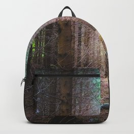 Mysterious spruce forest Backpack
