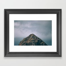 We'll never make it to the top Framed Art Print