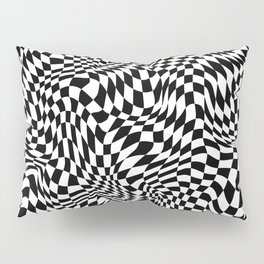 TIME MOVES SLOWLY (warped geometric pattern) Pillow Sham