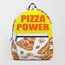 pizza power funny quote Backpack