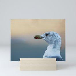 Seagull Bird Portrait Closeup Mini Art Print