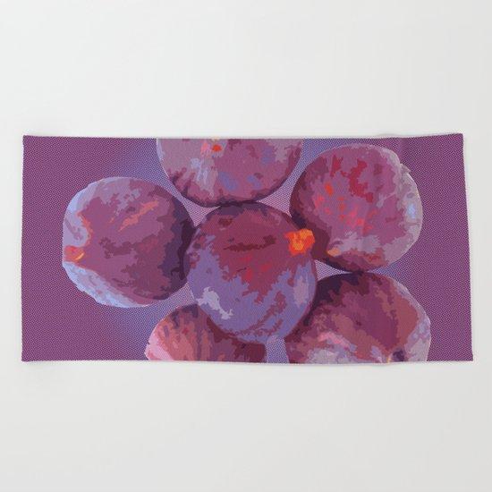 purple figs Beach Towel