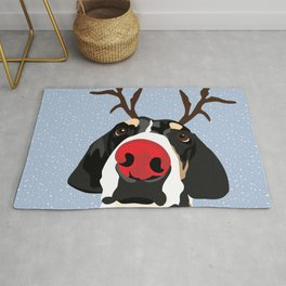 Ruldolph the Red Nose Dog Rug