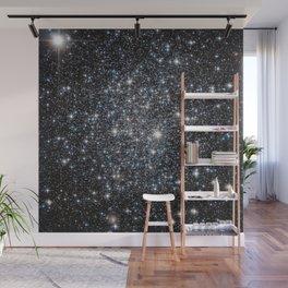 Stars : subtle black blue gold Wall Mural