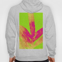 Green and Ultra Bright Coral Fern Hoody