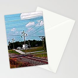 Jacksonville IL Rail Crossing 2 Stationery Cards
