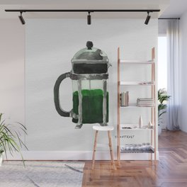 French Press - Green Wall Mural