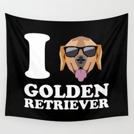 I Love Golden Retriever modern v2 Wall Tapestry