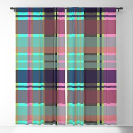 Purple plaid Blackout Curtain