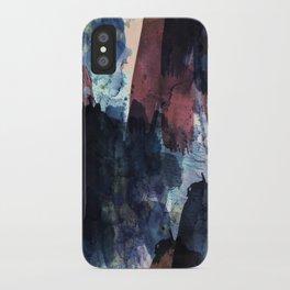 dark blue & marsala iPhone Case