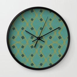 Mid Century Modern Diamonds #6 Wall Clock
