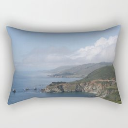 Clouds over Bixby Creek Bridge in Big Sur, California Rectangular Pillow