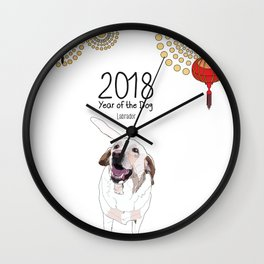 Year of the Dog - White Labrador Wall Clock
