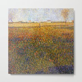 Georges Seurat Alfalfa Fields in Saint Denis Metal Print