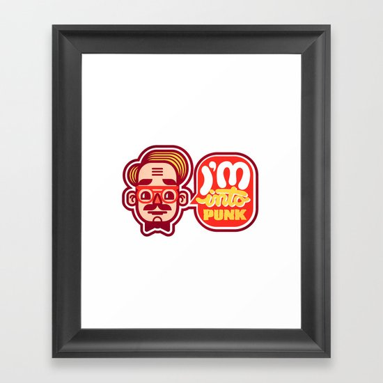 I'm Into Punk Framed Art Print