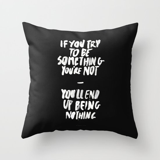 Being Nothing Throw Pillow