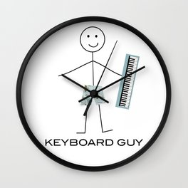Funny Mens Keyboard Guy Wall Clock