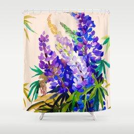 Lupine flowers Shower Curtain