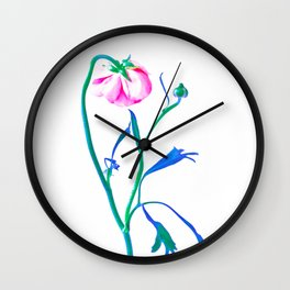 One Flower - Study 3. Back Wall Clock