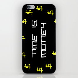time is money,black,dollar,regular,psychedelic, fun,irony,gold,yellow,nervous breakdown iPhone Skin