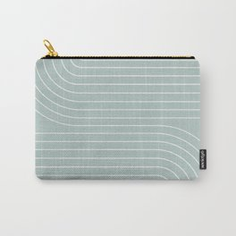 Minimal Line Curvature - Sage Carry-All Pouch