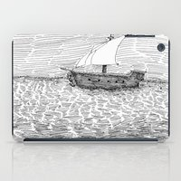 ship iPad Cases featuring Ship by Mr.Willow