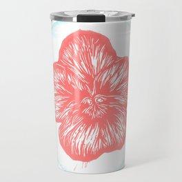 Violet Birth Flower - February - Coral Travel Mug