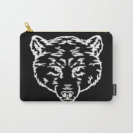 Outlines bear head, predators Carry-All Pouch