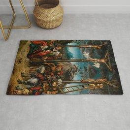 "Lucas Cranach the Elder ""The Crucifixion"" Rug"
