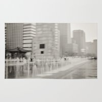 seoul Area & Throw Rugs featuring Abstract Seoul by Zayda Barros