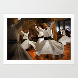 Whirling dervish - Istanbul  Art Print