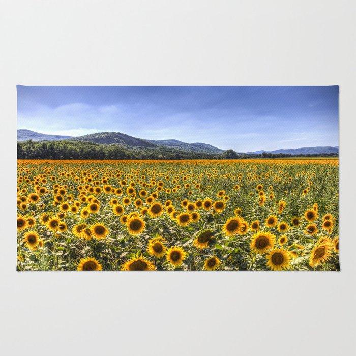 Sunflower Summer Field Rug