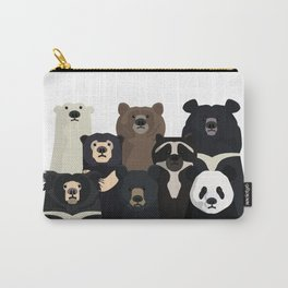 Bear family portrait Carry-All Pouch